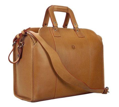 Hand-grained,-natural-Litigation-Bag;-19-x-13-x-8″