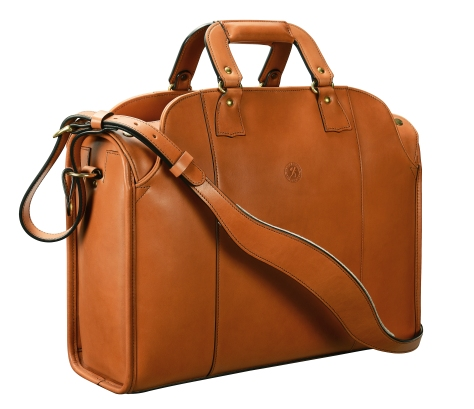 Hand-burnished,-chestnut-Deal-Bag;-17-x-12-x-7″