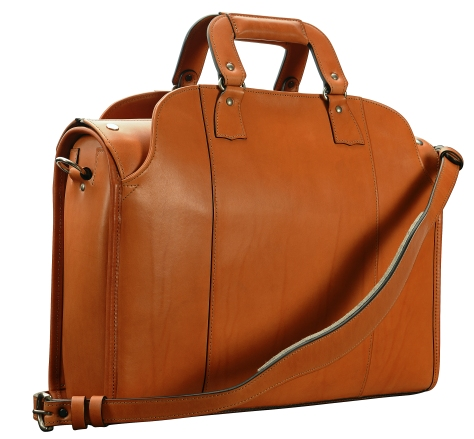 Hand-burnished,-chestnut-Deal-Bag;-18-x-12-x-5'-back