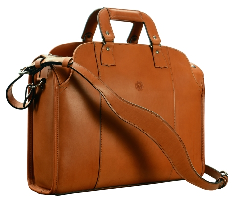 Hand-burnished,-chestnut-Deal-Bag;-18-x-12-x-5'