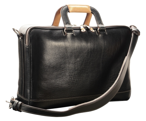 Hand-grained,-hand-colored,-black-Soft-Attache-with-hand-grained-natural-trim;-16-x-10-x-4'-back