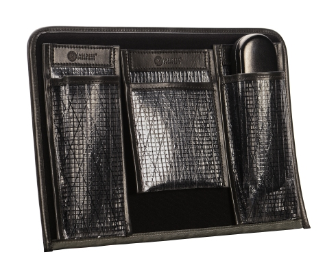Hand-burnished-black-Padded-Panel-with-eye-glasses-holders-and-shirt-pocket-organizers