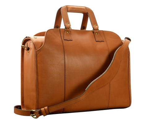 Hand-burnished,-chestnut-Litigation-Deal-Bag;-19-x-13-x-8'-back
