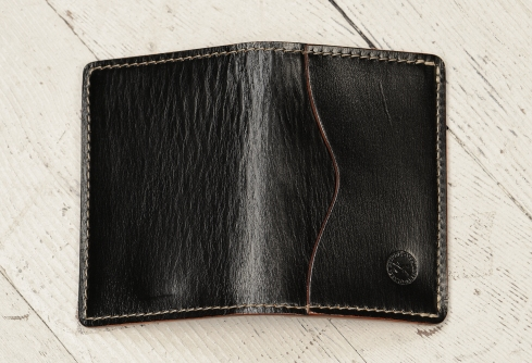 Hand-grained,-hand-colored-black-5-Pocket-Card-Holders-outside