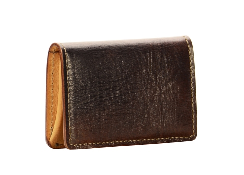 Hand-grained,-hand-colored-espresso-5-Pocket-Card-Holders