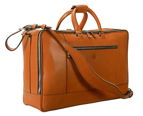 Hand-burnished,-chestnut-Square-Duffel;-20-x-13-x-6″