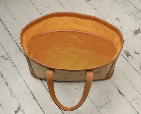 Hand-grained-natural-leather-Foldflat-Tote-with-sailcloth-topdown3