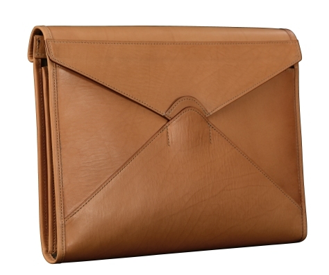 Hand-grained-natural-All-Leather-Flapover-Folderholder-with-dark-olive-green-lining.1