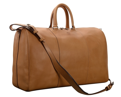 Hand-grained-natural-Duffel-Bag;-22-x-14-x-9'