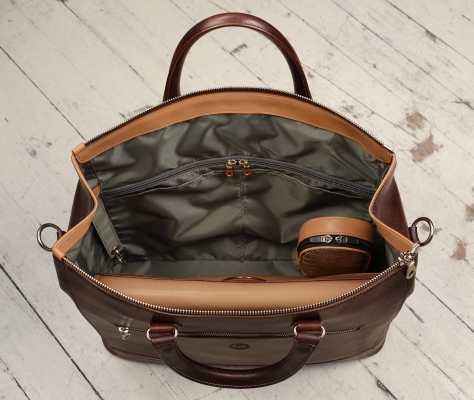 Hand-grained,-hand-colored-sienna-Club-Bag;-17-x-12-x-4'-topdown1