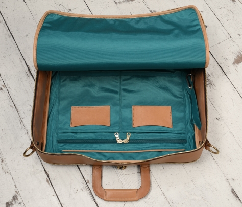 Hand-grained-natural-Soft-Attache-with-turquoise-grosgrain-lining;-17-x-12-x-4'-topdown2
