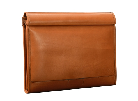 Hand-burnished-chestnut-All-Leather-Flapover-Folderholder-back-close
