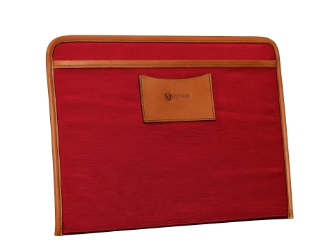 Hand-burnished-chestnut-Padded-Panel-with-crimson-red-lining-and-shirt-pocket-organizers