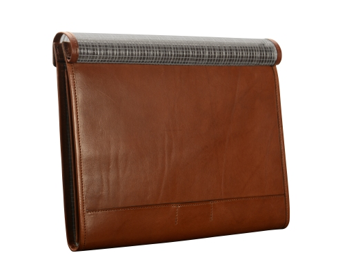 Hand-burnished,-espresso-mostly-leather-A4-Flapover-Folderholder-back