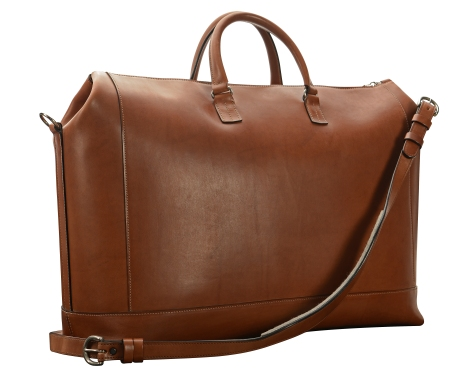 Hand-burnished,-espresso-Club-Bag;-22-x-14-x-8'-back