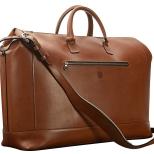 Hand-burnished,-espresso-Club-Bag;-22-x-14-x-8'