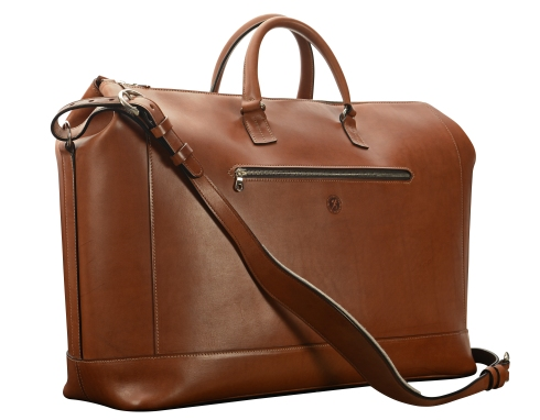 Hand-burnished,-espresso-Club-Bag;-22-x-14-x-8'