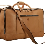 Hand-grained-natural-Square-Duffel-with-olive-green-lining;-20-x-13-x-8'