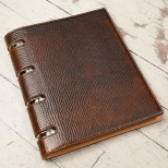 Hand-grained,-hand-colored-expresso-Presentation-Binder.2