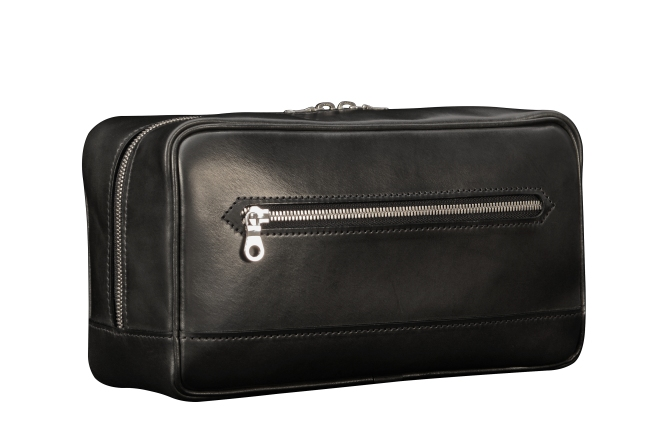 Hand-burnished-black-All-Leather-Travel-Kit