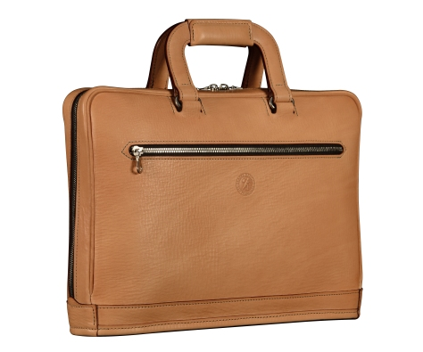 Natural-leather-Platform-Portfolio-without-back-pocket-and-shoulder-strap;-15-x-11-x-3